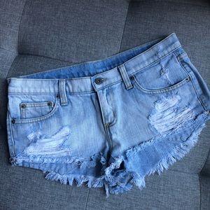 CARMAR Distressed Denim Shorts